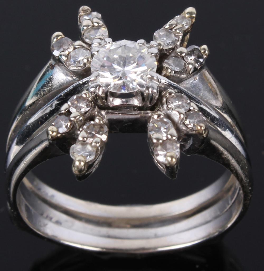 14K WHITE GOLD .65 CTW DIAMOND LADIES RING