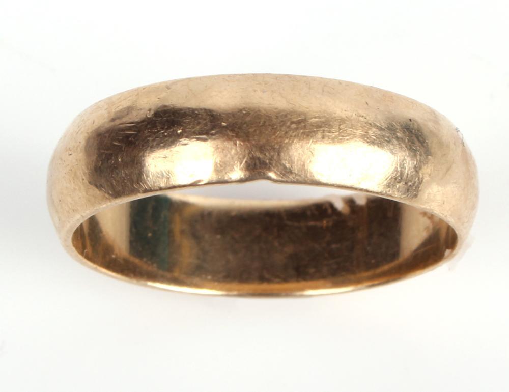 14K YELLOW GOLD MEN'S WEDDING RING