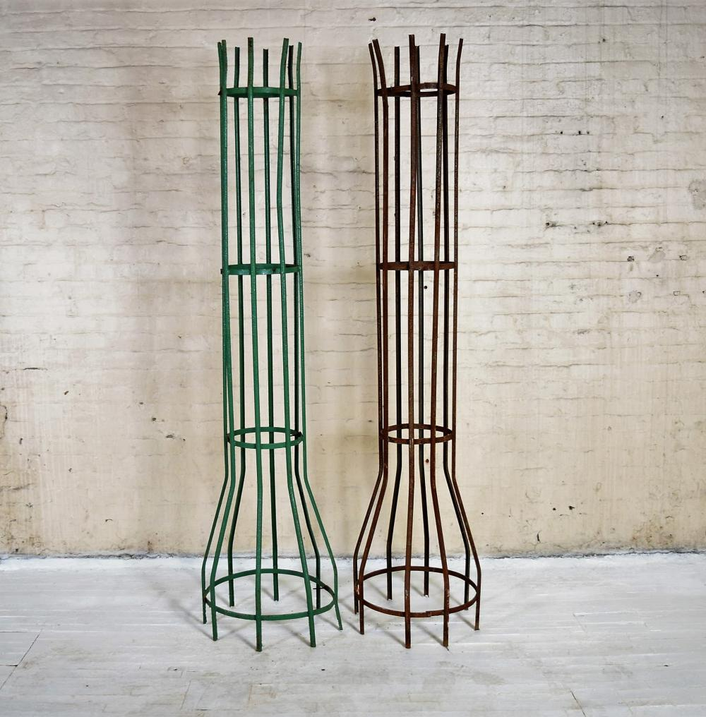 Green Wrought Iron Tree Surround