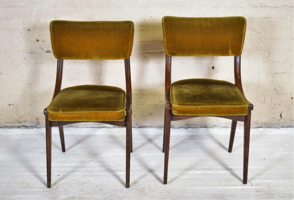 Green Velvet Side Chairs