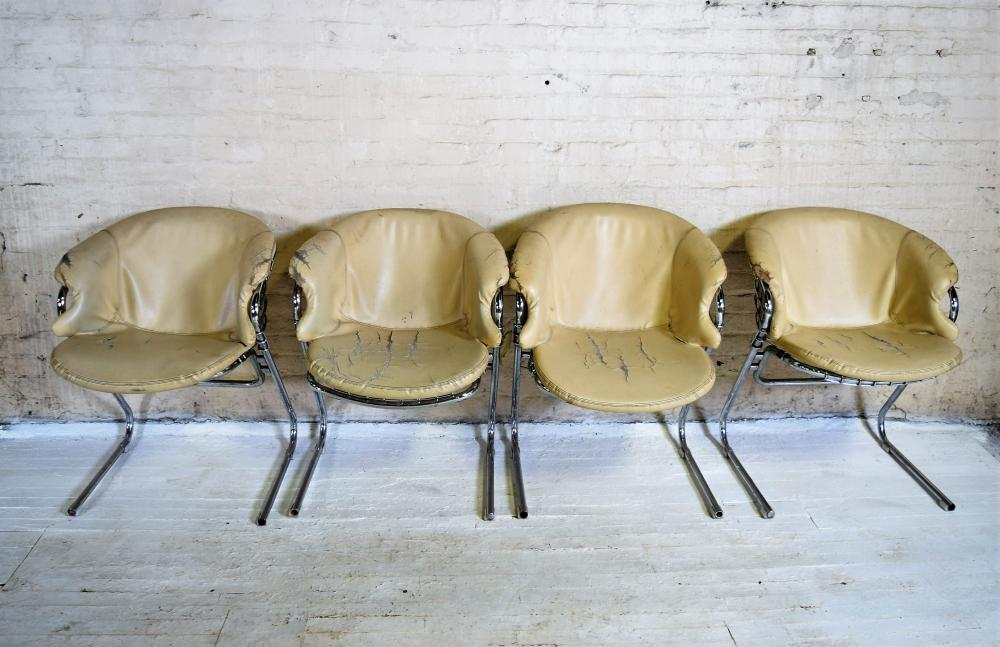 Padded Chrome Chairs