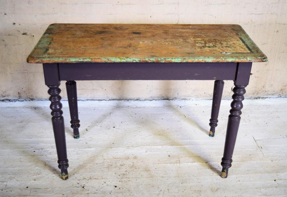 Primitive European Pine Farmhouse Table