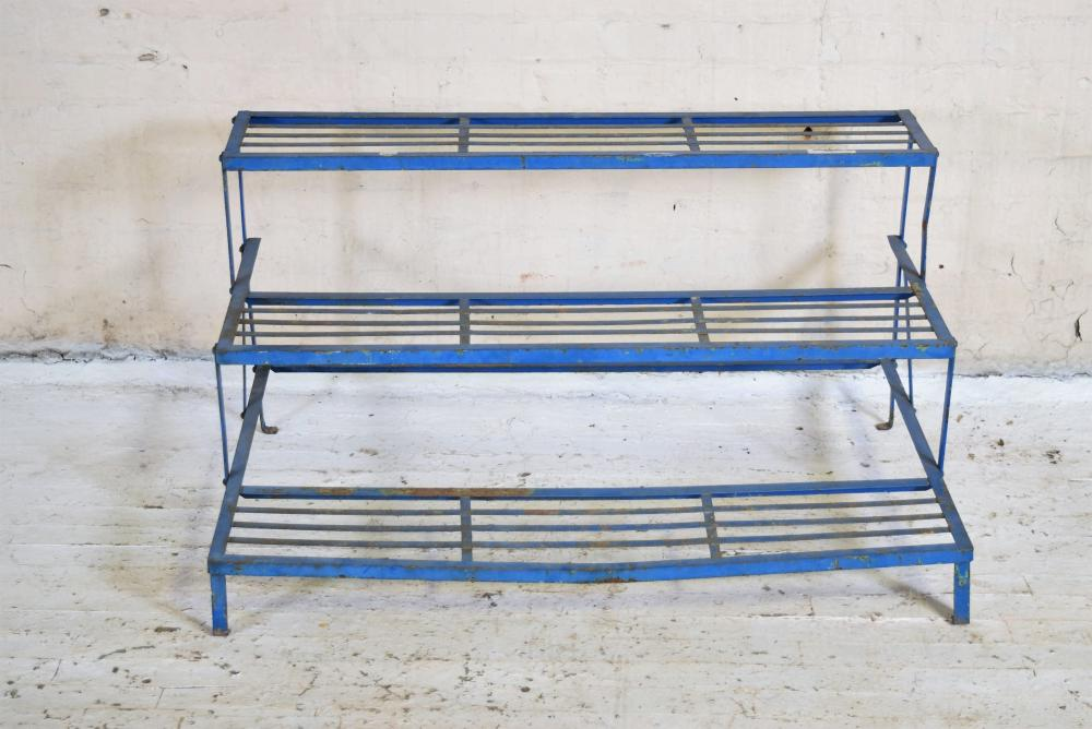 Vintage French Iron Garden Shelf