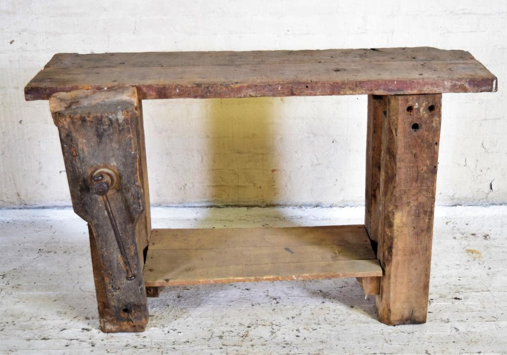 1800's Irish Work Table with Clamp