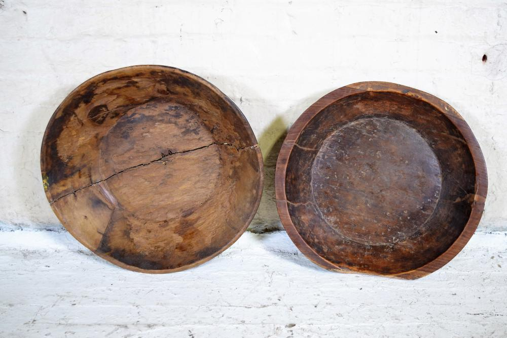 Vintage Indian Wooden Bowls