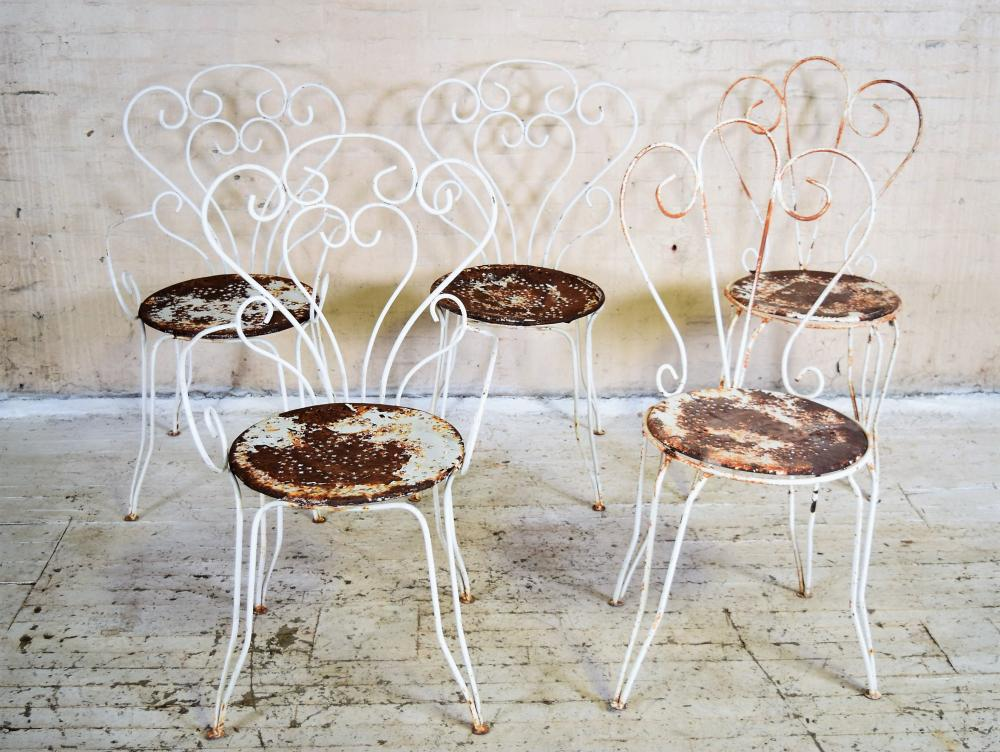 French Wrought Iron Bistro Chairs