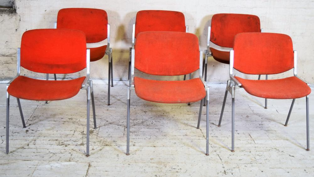 Set of 20th c. Stacking Chairs by Giancarlo Piretti for Castelli