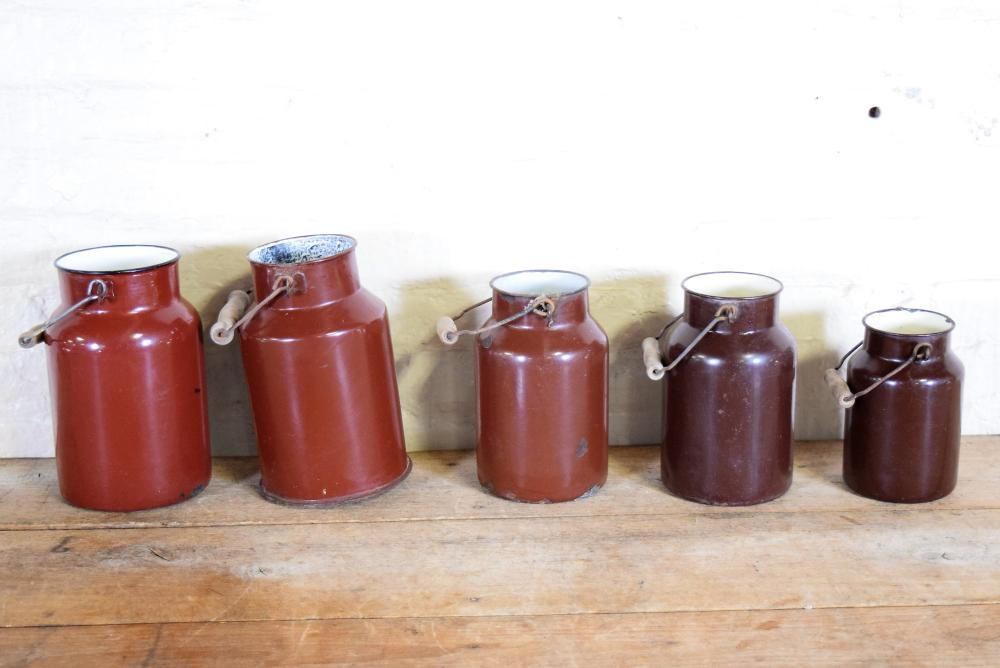Brown Enamel Pails