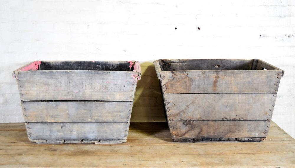 Vintage Champagne Crates from Epernay Region of France