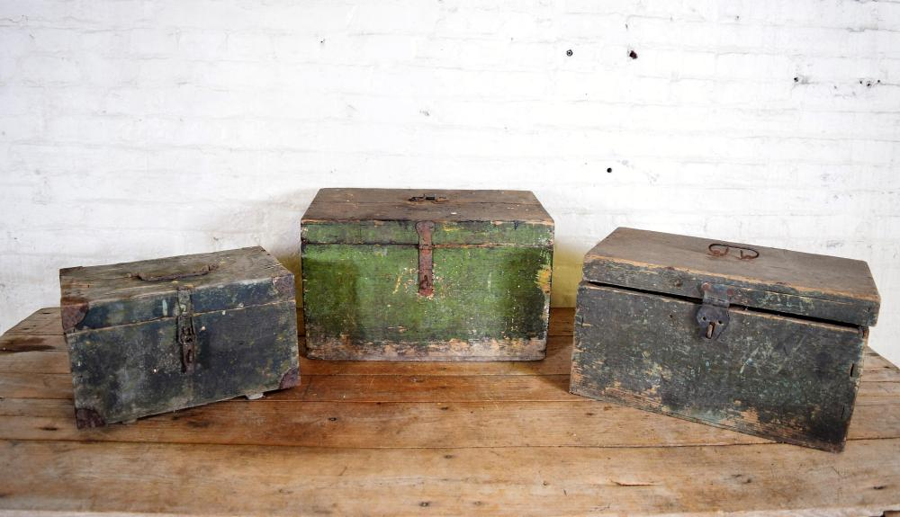 Vintage Hungarian Army Issue Soldier Trunks
