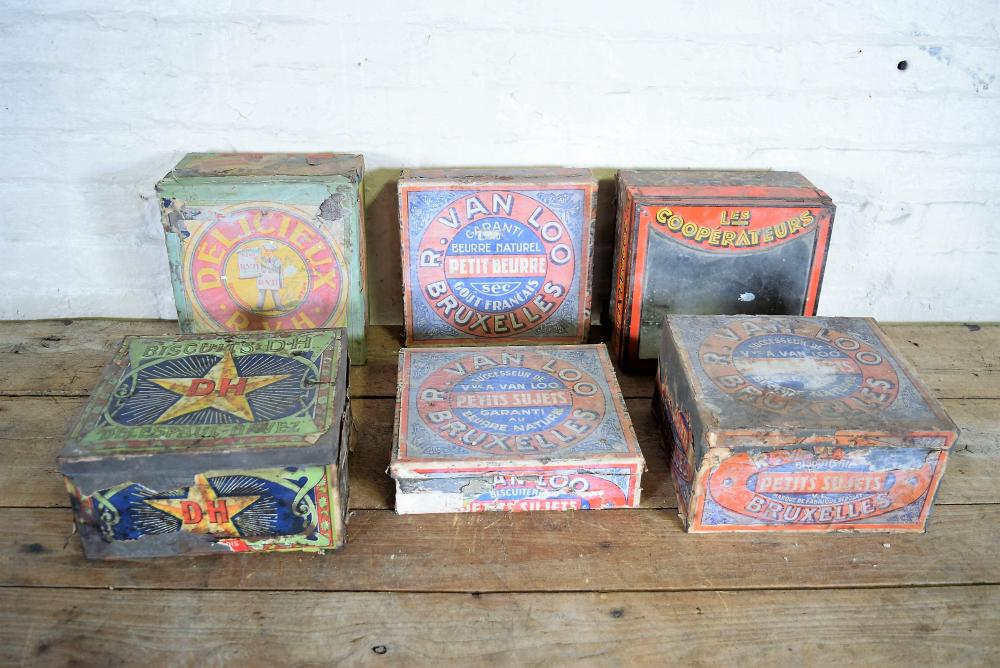 Vintage French Biscuit Boxes