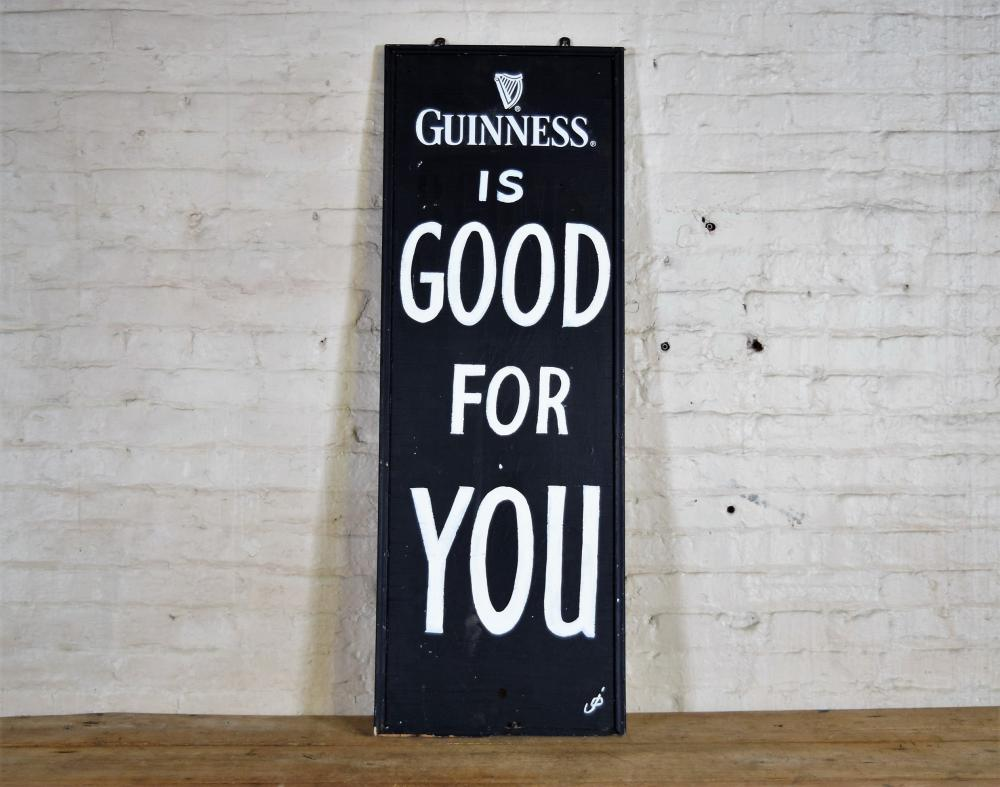 Handpainted Wooden Guiness Sign