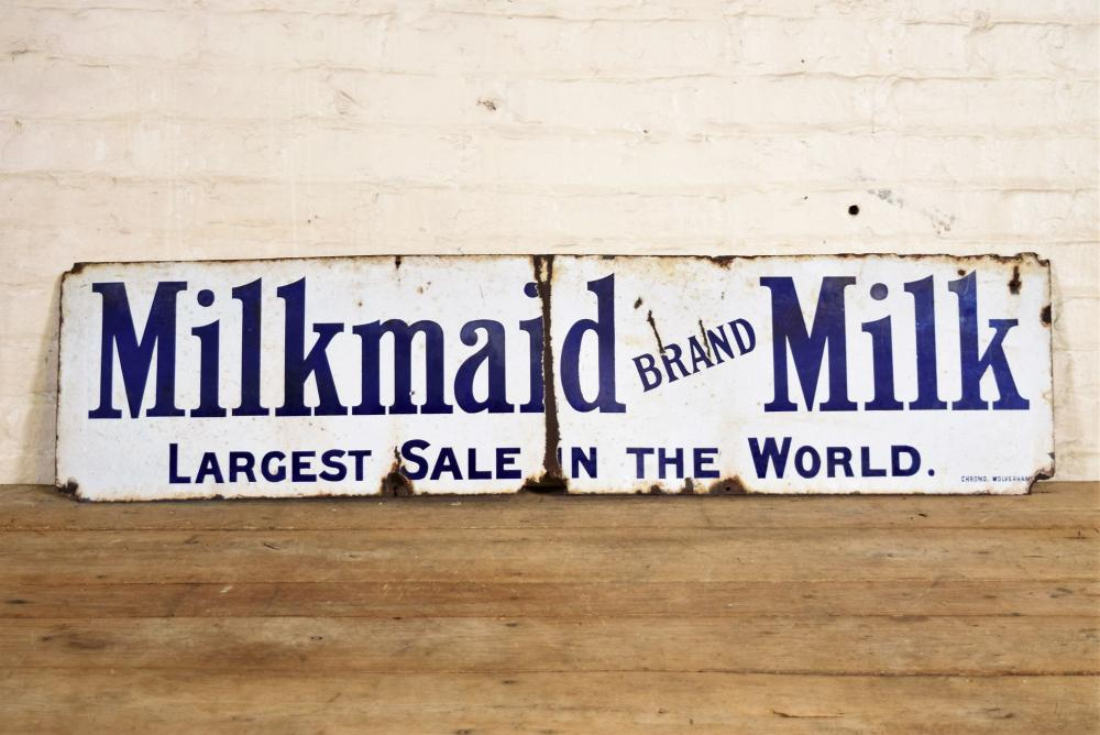 Milkmaid Metal Milk Sign