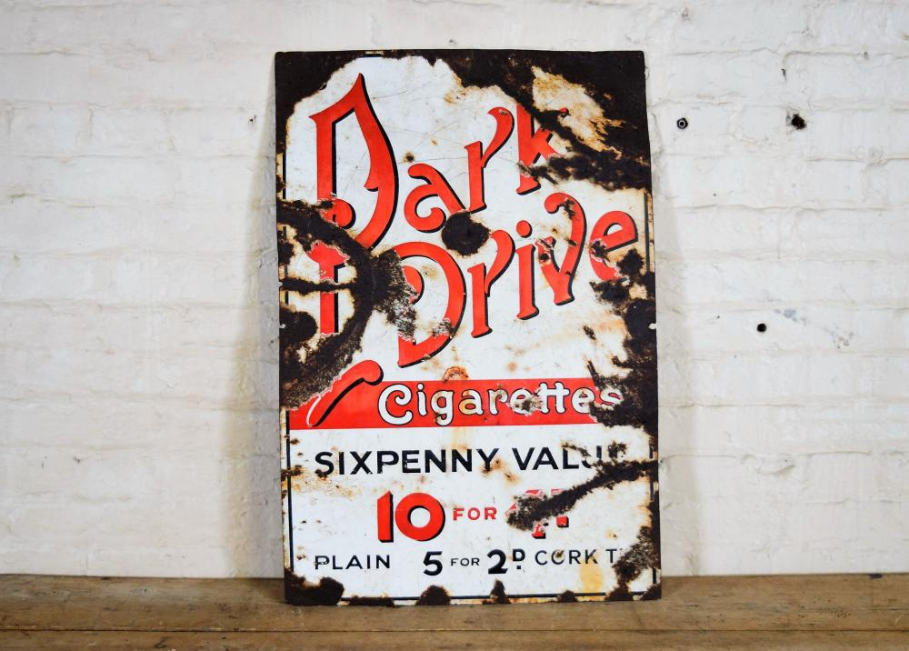 Vintage English Park Drive Cigarettes Metal Sign