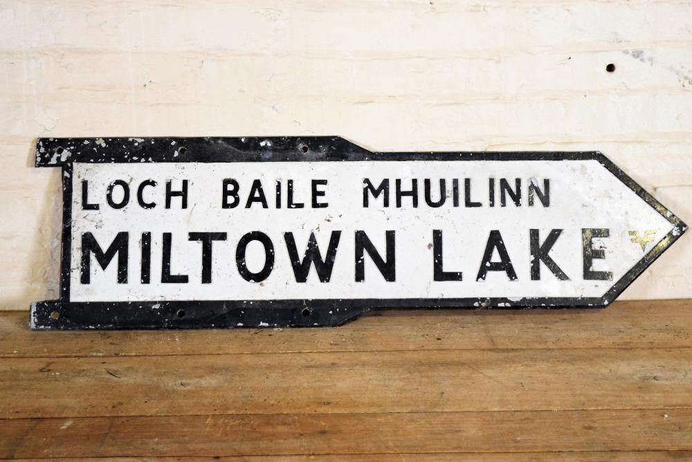 Miltown Lake Cast Iron Sign