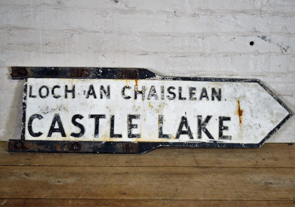 Castle Lake Cast Iron Directional Sign