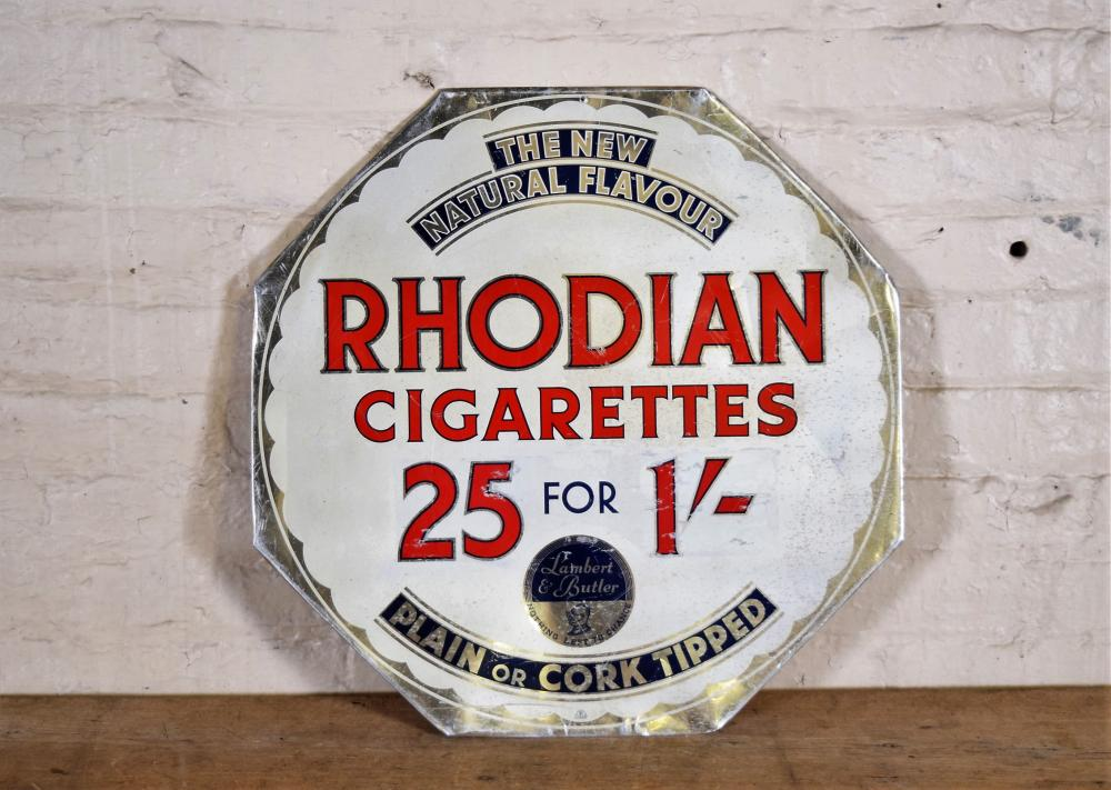 Rhodian Cardboard Cigarettes Sign
