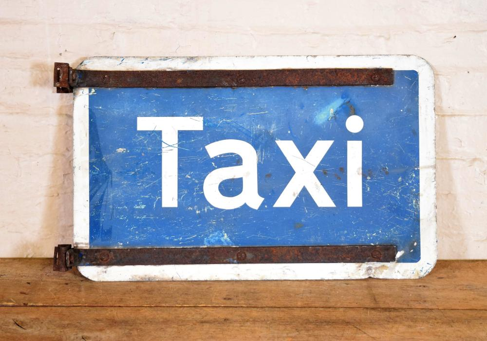 Double Sided Metal Taxi Sign