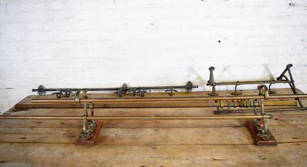 Vintage Brass Train Car Luggage Shelf