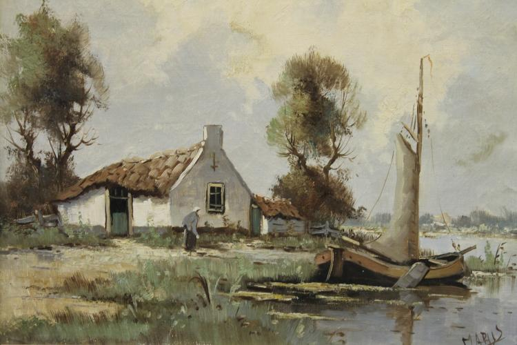 Dutch  Landscape by Anton Wilem Marus
