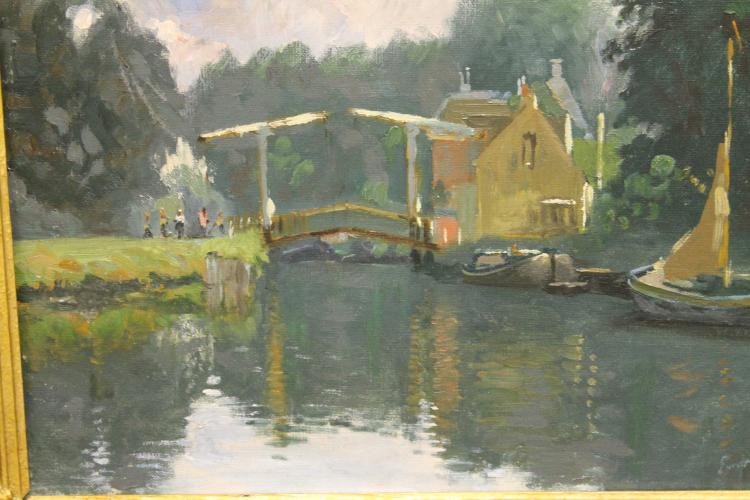 Dutch Canal by E. Moll