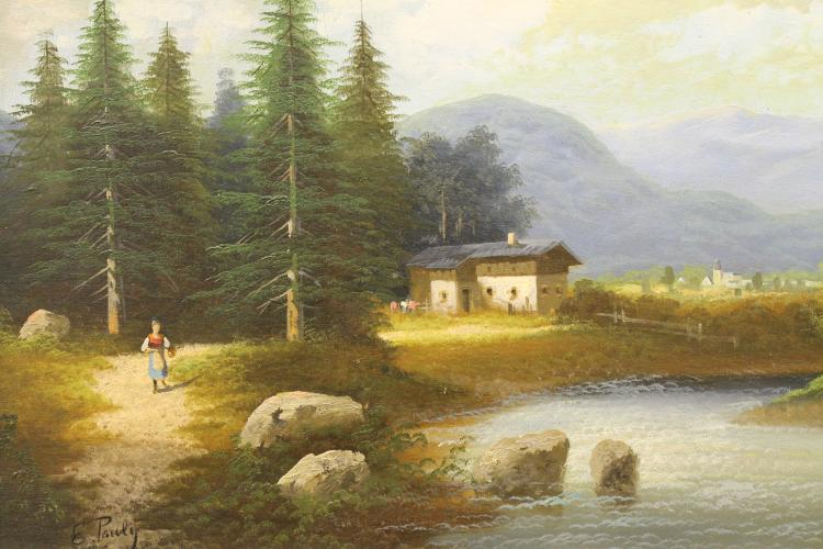 Austrian Landscape by Ernest Pauly