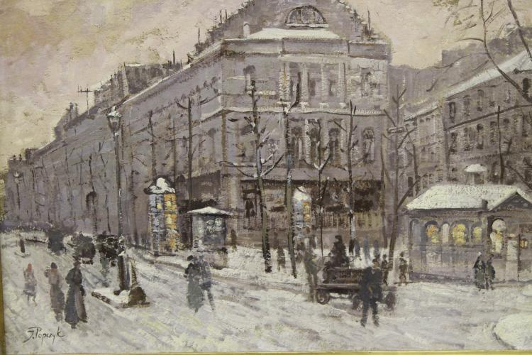Paris Snow by Josef Popczyk