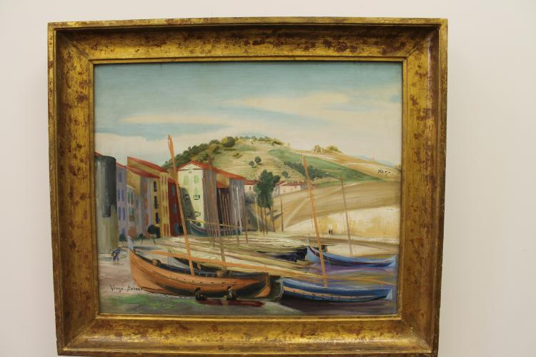 Harbor Scene by Henri Verge Sarat