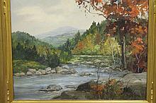 Massachusetts River Landscape by Paul Strisik