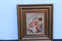 Sitting Nude by Josef Iser