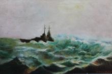 Ships at sea by Ovidiu Lebajoara