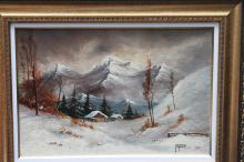 Winter scene by Marius Popovici