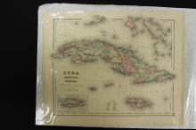 Map of Cuba, Jamaica and Porto Rico