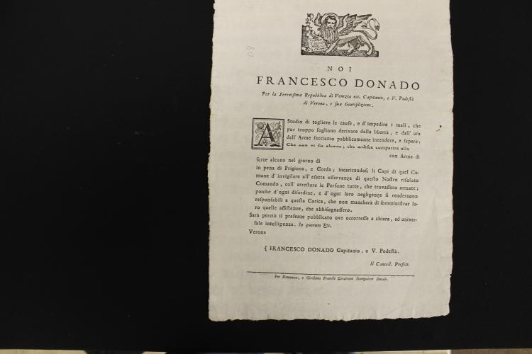 Republic of Venice Military Document