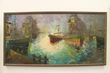Boats in Harbor by A. Munoz Ruiz