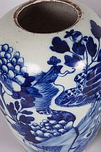Two Chinese Export porcelain melon jars