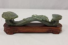 Fine Chinese celadon jade carved ruyi