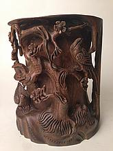 Old Chinese Wood carving Incense Burner