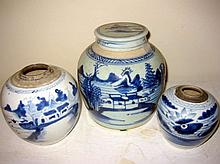 3 Piece Lot of Chinese Ginger Jars