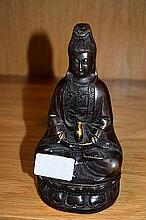 Chinese bronze figure of a seated Buddha