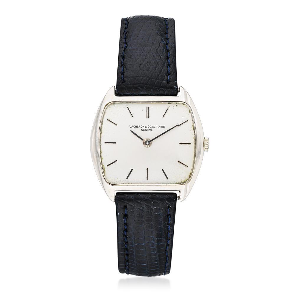 Vacheron & Constantin Tonneau Watch in 18K White Gold