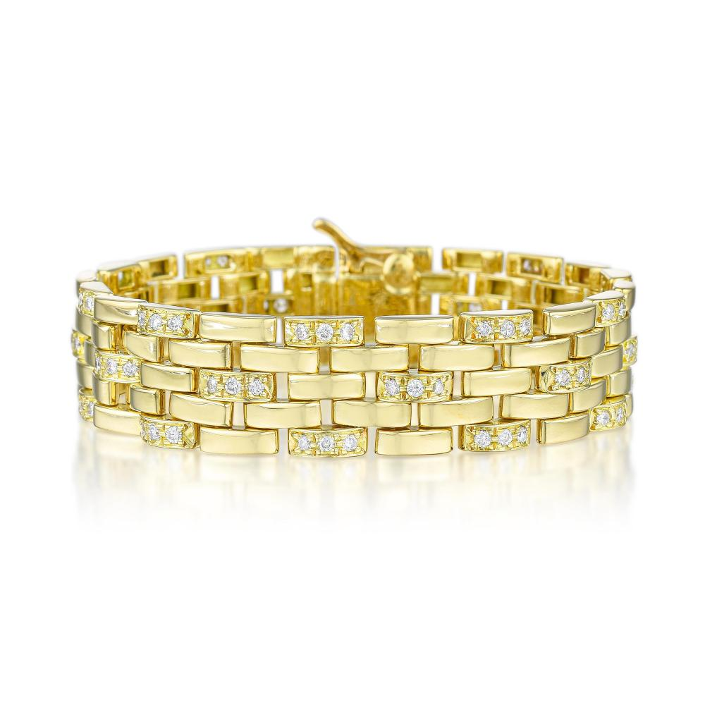 Cartier Maillon Panthere Diamond Bracelet