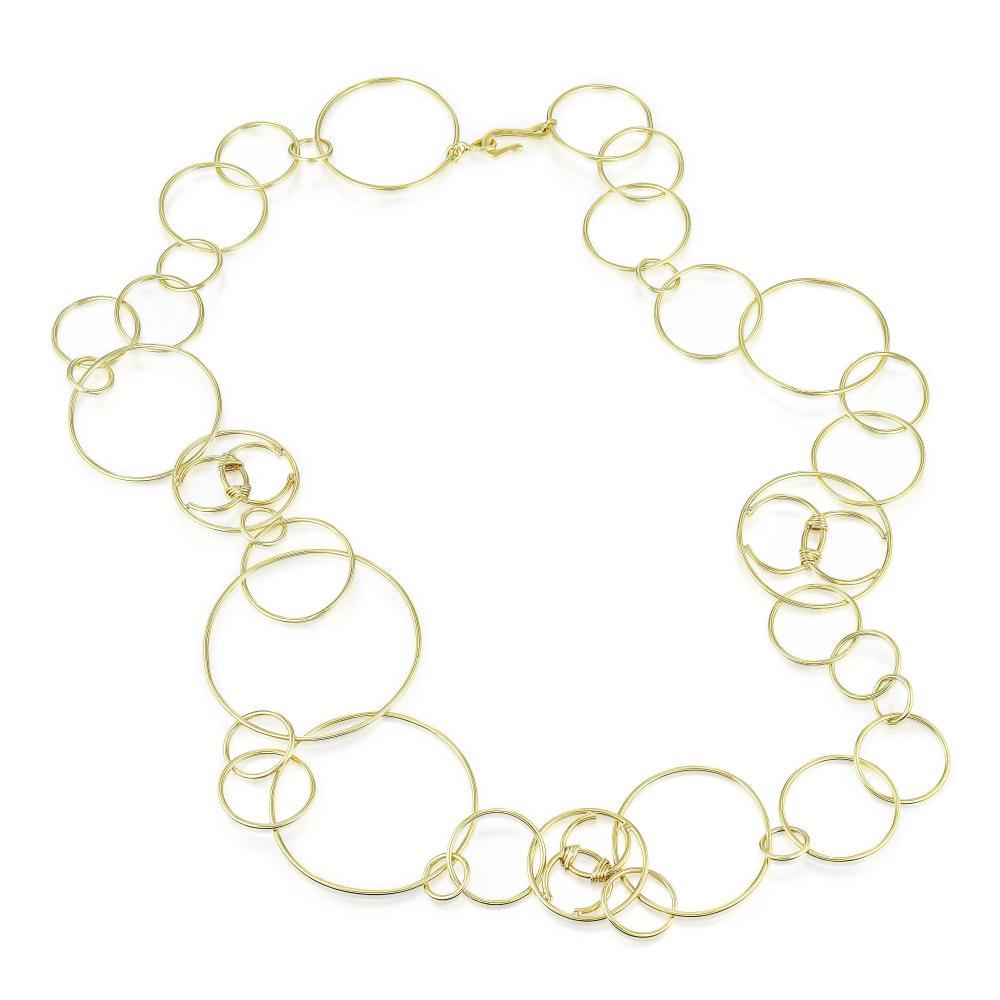 Chanel Hoop Link Long Necklace