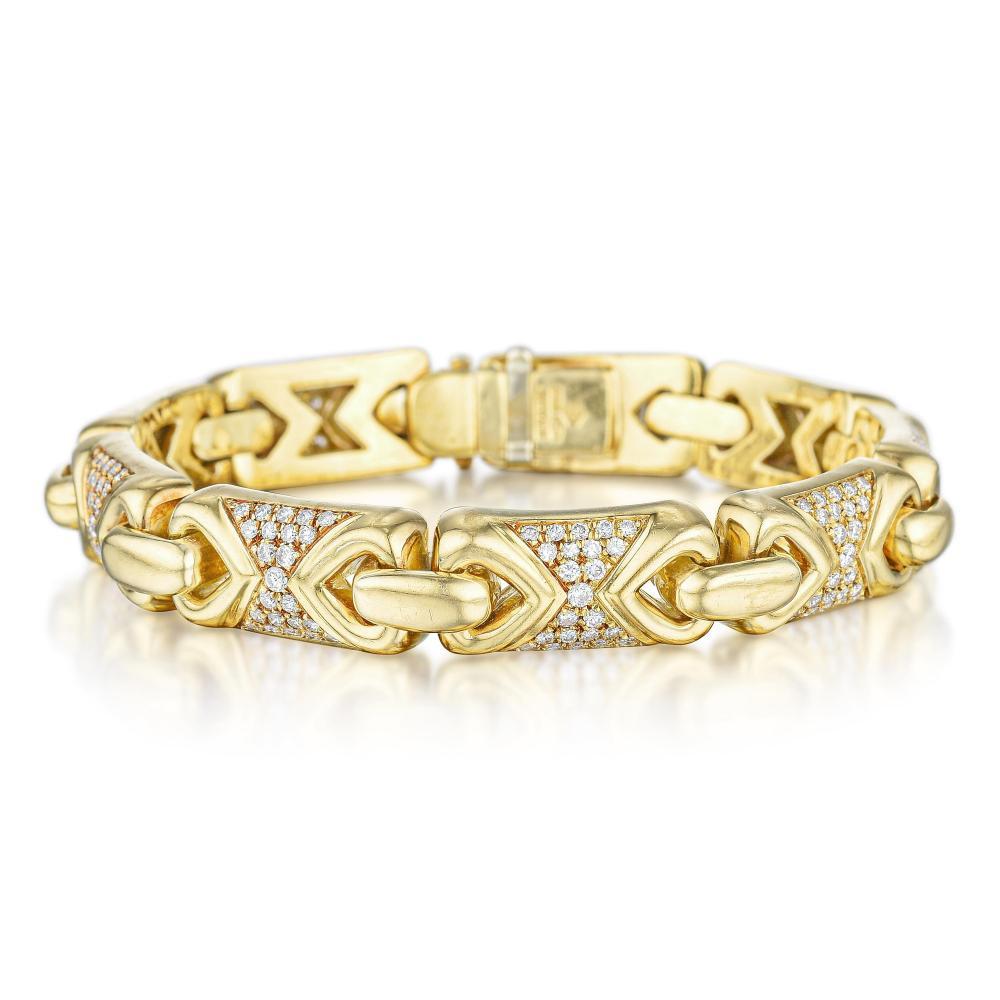 Bulgari Doppio Cuore Diamond Bracelet