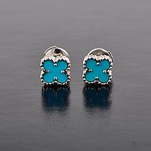 VC&A; Alhambra turquoise earrings