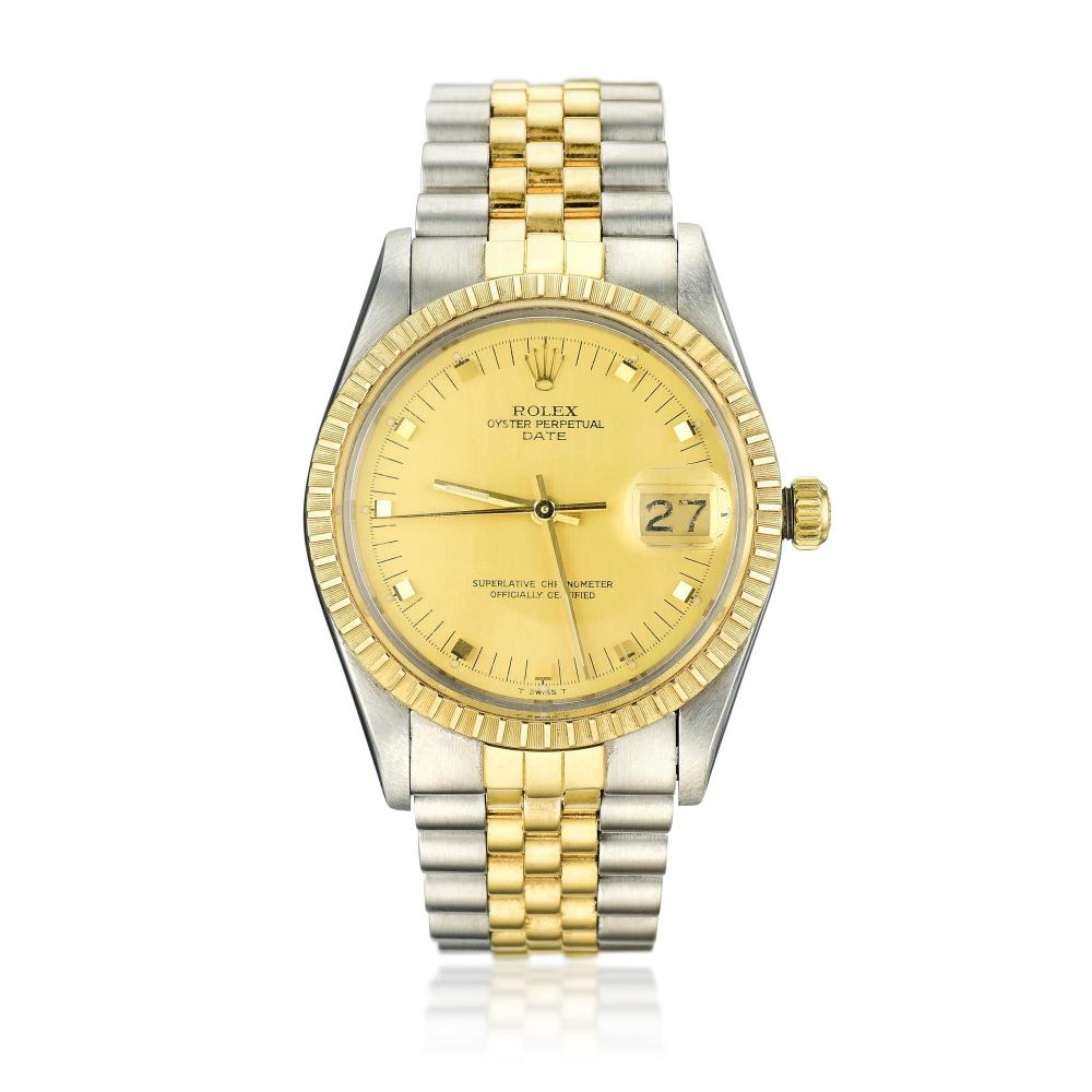 Rolex Date Ref 15053 in 18K Gold and Steel