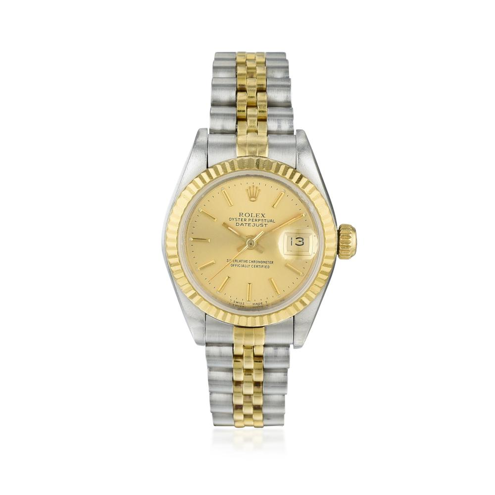 Rolex Oyster Perpetual Datejust Ref. 69173 in 18K Gold and Steel