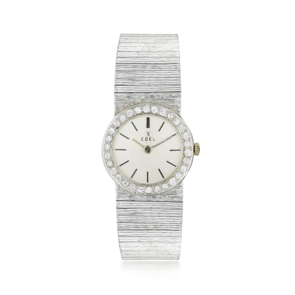Ebel Ladies Ultra-Thin Watch in 18K White Gold