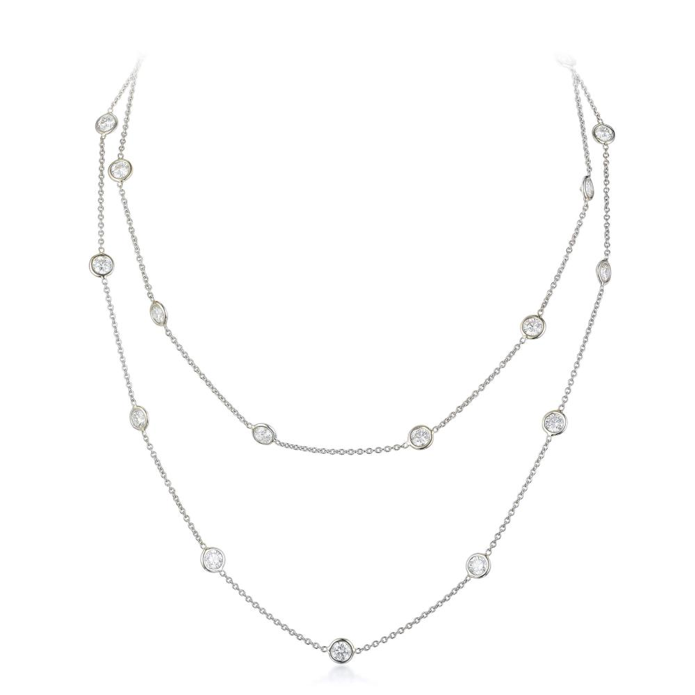 A Diamond Long Chain Necklace