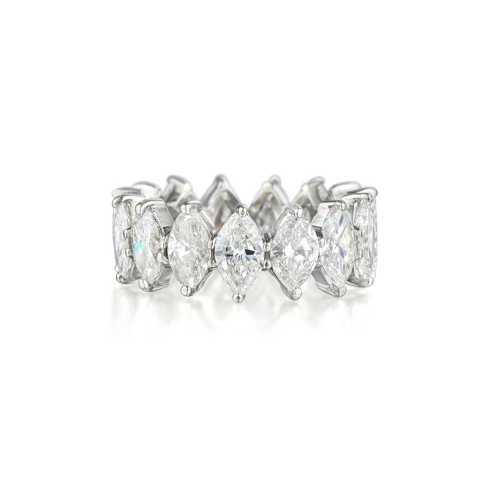 A Marquise-Cut Diamond Eternity Band Ring